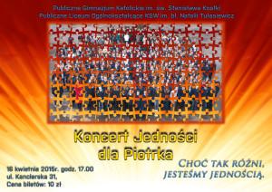 Plakat koncert poziom 300x212 KONCERT JEDNOŚCI DLA PIOTRKA