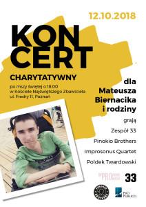koncert charytatywny 212x300 Koncert Charytatywny dla Mateusza Biernacika i rodziny
