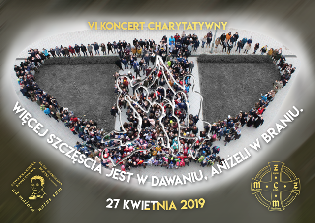 Koncert Charytatywny 27.04.19 Zaproszenie na VI Koncert Charytatywny 27.04.2019 r. godzina 16:00 w naszej szkole